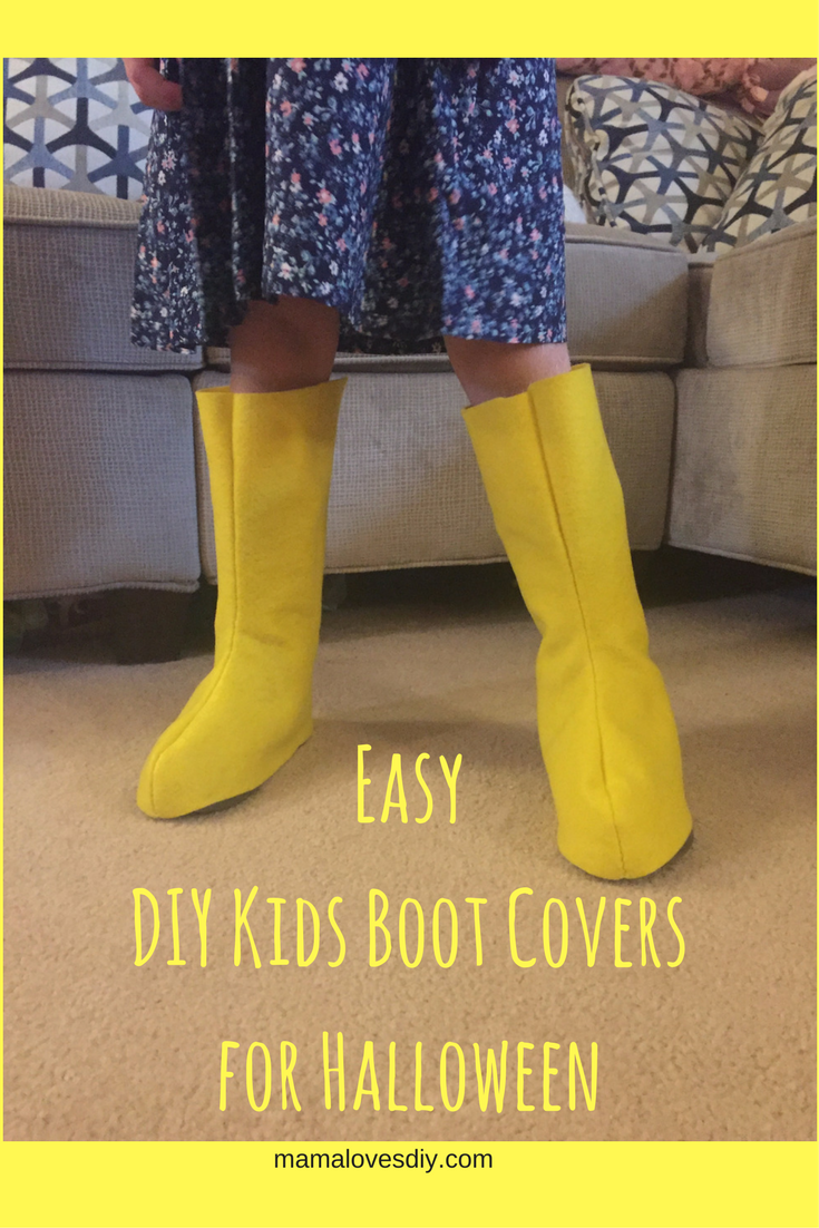 Easy DIY Kids Boot Covers for Halloween